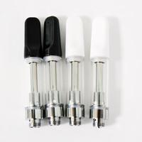 tek kullanımlık kalem tüpleri toptan satış-Seramik TH205 0.5ml 0.8 mi, 1.0 ml cam kalın yağ vape kartuşları boş vape kalemleri tek Vape Paket PVC boru kartuşları