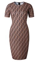 Wholesale animal print maxi - New Product Social Contact Popular Wind Number Double Seal F Commute Dress