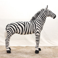 Wholesale props toy large resale online - simulation zebra model plush toy doll large photography wedding props birthday gift