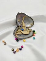 Wholesale Fanstic Gift Individually Wrapped fRESHWATER PEARL Oysters with mm Pearls Jewelry COLORS MIX