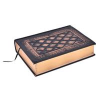 ingrosso taccuino plaid-Quaderni retrò vintage in rilievo Plaid Pu cuoio incorniciato Note Book Agenda diario ufficiale ufficio scolastico