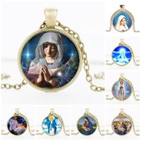 Discount stainless steel singapore - Gold Chains Necklaces Virgin Mary Pendant Necklace Christian Catholicism Stainless Steel Jewelry Vintage Religious Jesus Statement necklaces