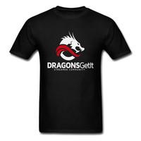 ingrosso collo del tatuaggio dei ragazzi-Dragons Getit Tattoo 100% cotone Boy manica corta Tees Stampa Summer Fall Top Magliette 3d Printed T Shirts Ultime Crew Neck