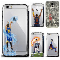 Wholesale Paintings Basketball - 2018 Curry Kobe James basketball man phone case for iphoneX 8plus S8 note5 soft TPU  PC cover fashion painting defender cases Customize DHL