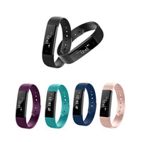 Wholesale smart camera alarm - ID115 Smart Bracelet Fitness Tracker Step Counter Activity Monitor Band Alarm Clock Vibration Smart Wristband for Android Iphone DHL Ship