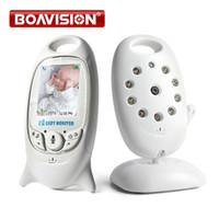 lcd baby monitor оптовых-VB601 2.4 ГГц Видео детские мониторы беспроводной 2.0 дюймовый ЖК-экран 2 способ говорить ИК ночного видения температура камеры безопасности 8 колыбельные