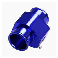 Wholesale radiator hoses online - Blue Color Defi Water Temperature Gauge Joint Pipe Radiator Hose Sensor Adaptor Red Color mm mm mm mm mm mm m