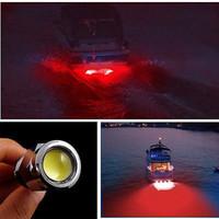 luz led de yate al por mayor-Marine Boat Drain Plug LED luz 9W azul blanco rojo bajo el agua NUEVO Simple de instalar Marine Yacht 720LM con conector para la pesca