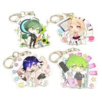anime cosplay ringe großhandel-Süße Anime Dangan Ronpa Danganronpa V3 Kokichi Saihara Akamatsu Amami Acryl Schlüsselbund Cosplay Geschenk Spielzeug Schlüsselanhänger