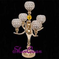 ingrosso portacandele per matrimoni-decorazione per matrimoni con candelabri votivi in cristallo, candelabri decorativi per matrimoni, portacandele votive in vetro