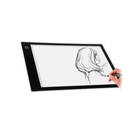 Wholesale light boxes displays for sale - A4 Third Gear Dimming DC LED Painting Board Writing Tablet Art Stencil Drawing Display Board Light Box Table Drawing Tablet Thin