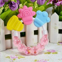 Wholesale baby rattles resale online - Education Cartoon Baby Baby Teether Educational Toys Teeth Biting For Babies Baby Rattle Toy For Bed Bell Silicone Handbell Jingle