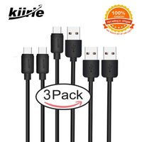 Wholesale Fiber Cabling - Kiirie Type C Cables Pack 3 Data Lines 0.3m+2m+2m Quick Charge Durable High Speed Cord Kevlar Fiber For Goophone Samsung Micro USB