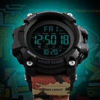 часы двойные цифровые часы оптовых-Мужские спортивные часы мода цифровые мужские часы водонепроницаемый будильник обратный отсчет двойное время Кварцевые наручные часы Relogio Masculino 2018
