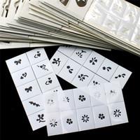 airbrush nagel schablone designs großhandel-30 stücke Muster Vorlage Schablone Aufkleber Set Airbrush Schablonen Nail art Design für Finger Zehen (Stil zufällig)