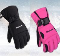 motosiklet eldivenleri kırmızı toptan satış-Marsnow Erkekler Kayak Eldivenleri Snowboard Eldiven Kar Araci Motosiklet Sürme Kış Açık Su Geçirmez Kırmızı Siyah Eldivenler Aşınmaya Dayanıklı 42ax dZ
