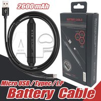 Wholesale Android Phone Zte - Power Bank 2600mah Power Bank Built in Cable Battery Charging For Type C Micro usb Cable PowerBank For Android Samsung zte Mobile Phone