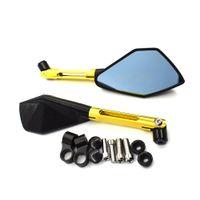 espejo retrovisor cnc al por mayor-Para accesorios de moto plegables universales cnc espejo retrovisor lateral espejos de motocicleta para Yamaha mt07 mt09 tmax 530 500 TDM 900