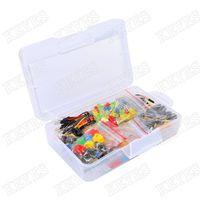 ingrosso kit di avviamento per arduino-Starter Kit Robotlinking per resistore Arduino / LED / Condensatore / Cavi ponticello / Kit resistore breadboard