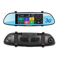 Wholesale car android rearview for sale - 7 inch Touch Screen G Car DVR video Mirror Android GPS RAM GB FHD P Car Automobile DVRs Bluetooth Hands free WIFI