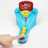 Wholesale basketball shooting toys online - Children Shooting Toy Finger Ejection Basketball Court Desktop Games Launching Pad Parent Child Intelligence Game New bl W