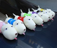 Wholesale cleaning interior - Car Ornament Cute Long Mouth Dog Air Fresher Cleaner Bamboo Charcoal Bag Automobile Interior Cartoon Bag Dog Decoration Gifts