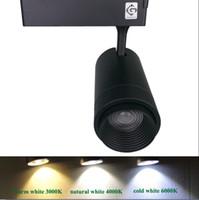 luz de zoom venda por atacado-Faixa de Iluminação LED Track Light fixture Zoom Ajustável 20 W Rail Spot LED Tracking Luzes Rail Lâmpada Art Deco LLFA