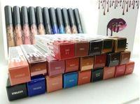 макияж губная помада оптовых-горячие 16 цветов BRAND Lipgloss Lipstick Косметика для губ блеск для губ Жидкая матовая губная помада Красный бархатный макияж