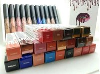 heiße samtlippen großhandel-heißes 16 Farben MARKE Lipgloss Lippenstift Kosmetik Lipgloss flüssiges Mattlippenstift rotes Samt-Make-up