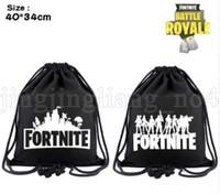 Wholesale two cosplay for sale - Fortnite Cosplay backpack teenager Drawstring bag Cartoon print bags cm Drawstring pocket Fortnite Battle Royale Backpack KKA5542