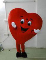 kırmızı kalp maskot kostümleri toptan satış-2018 İndirim fabrika satış kırmızı kalp aşk maskot kostüm AŞK kalp maskot kostüm ücretsiz kargo