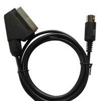 Wholesale version pal - xunbeifang 100pcs PAL version C-pin Plug Scart Video Cable for SEGA Mega Drive 1 for Genesis 1 EU cable