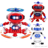Wholesale robot electronics - 2018 Intelligent Rotating Space Dancing Robot Electronic Infrared Musical Walking Lighten Multi function Smart Toys for Kid Robot toys