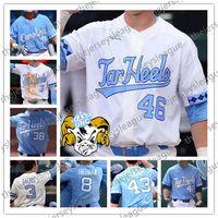 e40ef1c6e North Carolina Tar Heels Custom Any Number Any Name White Blue Good Quality  Stitched #8 Ike Freeman NCAA College Baseball Jerseys