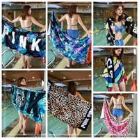 Wholesale Camping Chair Wholesale - 7 Styles 147*71cm Soft Leopard Beach Towel Outdoor Sports Swimming Camping Bath Yoga Mat Bath Towel Beach Chair Cover CCA9628 12pcs
