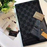 Wholesale Plain Gift Wrap - Top Qualtiy 180x60cm cashmere pashmina Euro Luxury Brand French designer scarf Letter Pattern Printed Gift shawl women scarf A-010