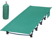 berço de viagem venda por atacado-Tenda dobrável ultraleve Camping Cot Bed, compacto portátil para viagens ao ar livre, Base Camp, caminhadas, montanhismo, leve