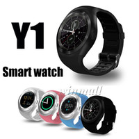 Wholesale sim card watch cell online – Y1 Bluetooth SmartWatch IPS Round Touch Screen Cell Phone Watch with SIM TF Card Slot SmartWatch Pedometer Sleep Monitor Remote