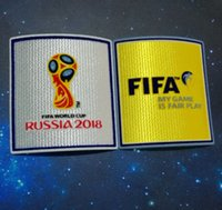 Wholesale Cup Accessories - Top quality Patch 2018 world cup Patch Soccer Patch Soccer Badges Cashmere material velvet
