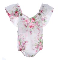 Wholesale photo prop newborn girl clothes resale online - 2017 Summer Newborn Baby Rompers Cotton Ruffle Baby Jumpsuits Girl Romper Costume Overalls Girls Clothes Photo Props Clothing