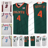 Wholesale iv s - Miami Hurricanes #4 Lonnie Walker IV 3 City Edition Dwyane Wade Goran Dragic Hassan Whiteside Stitched White College Basketball Red Jerseys
