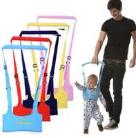 Wholesale infant toddler harness resale online - 5 color Baby Toddler Walking Wing Belt Safety Harness Strap Walk Assistant Infant Carry Leashes Baby Learning Walking KKA5664