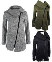 бесплатное дамское пальто оптовых-Женщины капюшоном пальто с капюшоном куртка большой плюс повседневная swearshirt сплошной цвет kint флис отворот шеи пиджаки пальто s-5XL