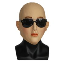 Wholesale Realistic Sexy Girls - Hot Sale Cool Realistic Halloween Mask Female Latex Mask Masquerade Masks Cosplay Top Quality Sexy Girl Crossdresser Costume Free Shipping