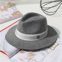 ingrosso disegni di etichetta di spedizione-moda m label brand design inverno uomo donna unisex lana panama top cappello a tesa larga spedizione gratuita