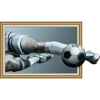 futbol yatak odası dekor toptan satış-Hediyelik Eşya Çıkartmaları 3D Futbol Wold Kupası için Yaratıcı Duvar Sticker Elf-yapışkanlı Su Geçirmez PVE Yatak Odası Duvar Dekor Sticker Lüks Ev ...