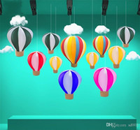 paper decoration designs 2018 - Artificial Hot Air Balloon Romantic Design Hand Made Elastic Fire Balloons For Party Wedding Birthday Decoration Supplies New 55bt3 ZZ