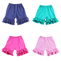 Wholesale cotton pants for girls resale online - Girls Colored Lace Shorts Candy Shorts for Girls Multi color Elastic Band Cotton Short Pants Summer