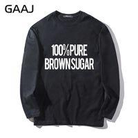 braune langarmhemd frauen großhandel-T-shirt Männer GAAJ