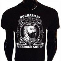 ingrosso barbiere di barba-Maglietta Rockabilly Barber Uomo S-5XL Shop Hipster Beard Tee